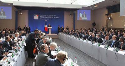 ندوة «أًصدقاء الشعب السوري» تنطلق في باريس دون روسيا والصين
