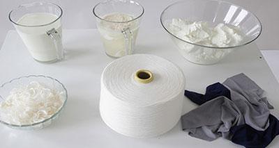 الحليب ينافس القطن والحرير في صناعة الأقمشة