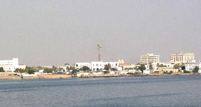 مدينة بورتسودان الواقعة على شاطئ البحر الأحمر