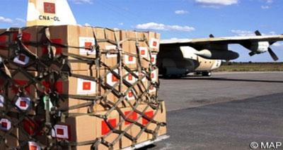 تواصل الجسر الجوي للمساعدات المغربية للاجئين السوريين