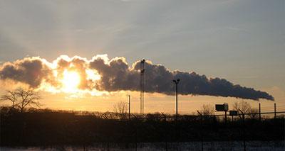 معدلات تلوث الهواء في ارتفاع