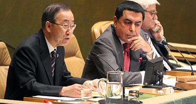 بان كى مون يطالب بمحاسبة كل من ارتكب الانتهاكات فى سوريا