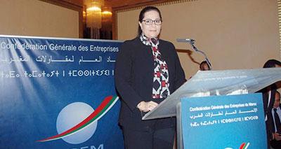 مريم بنصالح٬ رئيسة الاتحاد العام لمقاولات المغرب