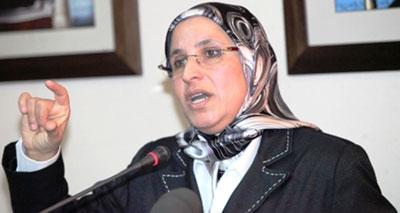 وزيرة التضامن والمرأة والأسرة والتنمية الاجتماعية، بسيمة الحقاوي