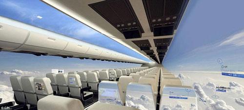 بريطانيا تطور طائرات مدنية بلا نوافذ
