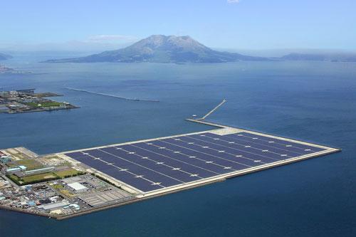 شركة يابانية تنشيء اكبر محطة طاقة شمسية عائمة في العالم