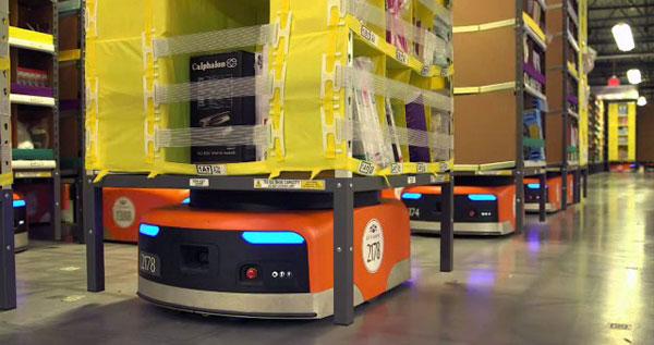Amazon fait appel à 15 000 robots Kiva pour ses livraisons