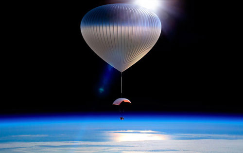 A balloon ride to the edge of space