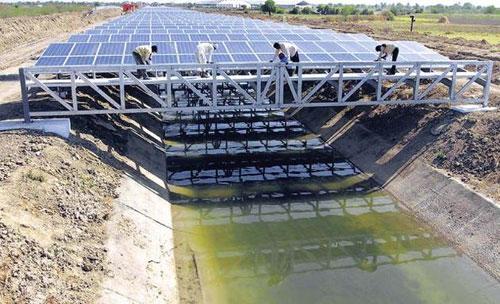 قنوات الهند محطات شمسية
