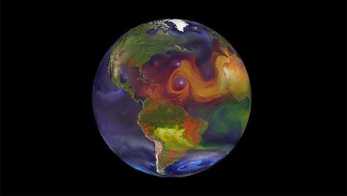 Une simulation dévoile comment la pollution asiatique crée des cyclones en amérique