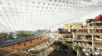 Google's New Headquarters to Be a Chrysalis of 'Glass Fabric' and Movable Office Space