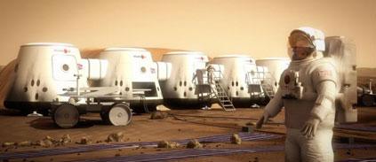 La glace carbonique pour fabriquer de l'électricité sur Mars