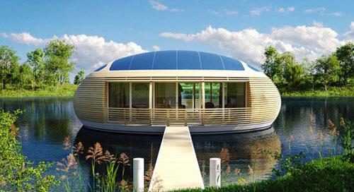بالصور.. مهندس إيطالى يصمم منزلا ذكيا عائما يعمل بالطاقة الشمسية