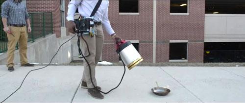 ابتكار جهاز لإطفاء الحريق بواسطة الصوت