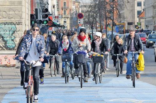 الدنمارك الأولى أوروبياً في تشجيع الدرّاجين