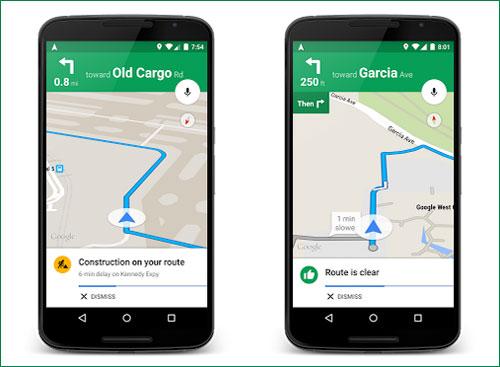 Google Maps تطلق ميزة للتنبيه بالازدحام المفاجئ