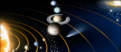 Quelle force fait tourner les planètes sur elles-mêmes?