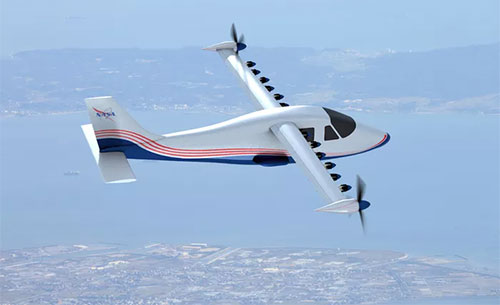 ناسا تصنع طائرة كهربائية