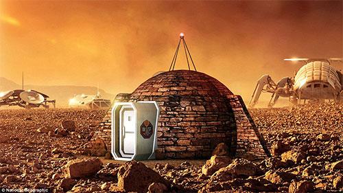 تصميم بيوت فضائية تصلح للحياة على المريخ
