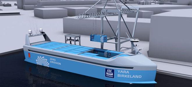 النرويج ستبني اول سفينة شحن كهربائية بالكامل
