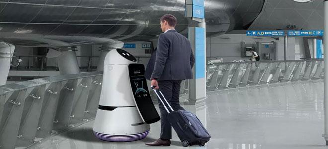LG تطلق روبوتات للإرشاد والتنظيف