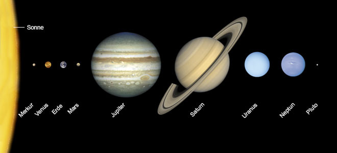 كواكب المنظومة الشمسية على خرائط غوغل