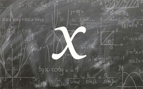Mathématiques : d'où vient le X ?