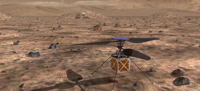 """""""ناسا"""" تخطط لإرسال أول طائرة مروحية للمريخ"""