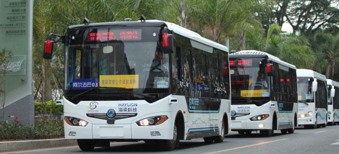 الصين تطلق حافلات ذكية بدون سائق للركاب